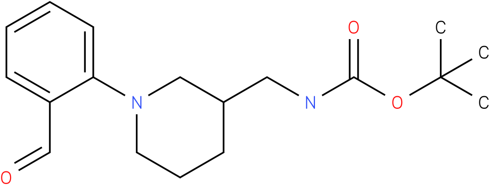[1-(2-formyl-phenyl)-piperidin-3-ylmethyl]-carbamic acid tert-butyl ester