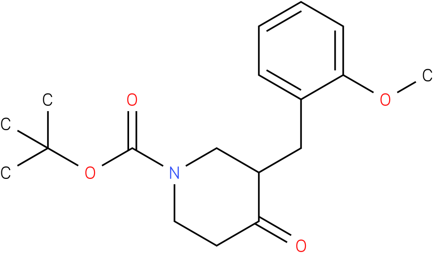 tert-butyl 3-(2-methoxybenzyl)-4-oxopiperidine-1-carboxylate