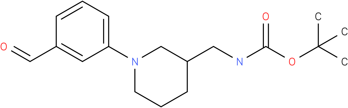 [1-(3-formyl-phenyl)-piperidin-3-ylmethyl]-carbamic acid tert-butyl ester