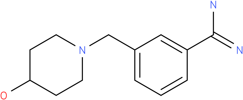 3-(4-hydroxy-piperidin-1-ylmethyl)-benzamidine