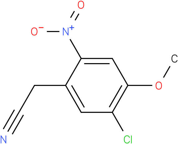 2-(5-chloro-4-methoxy-2-nitrophenyl)acetonitrile