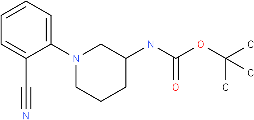 1-(2-cyano-phenyl)-piperidin-3-carbamic acid tert-butyl ester