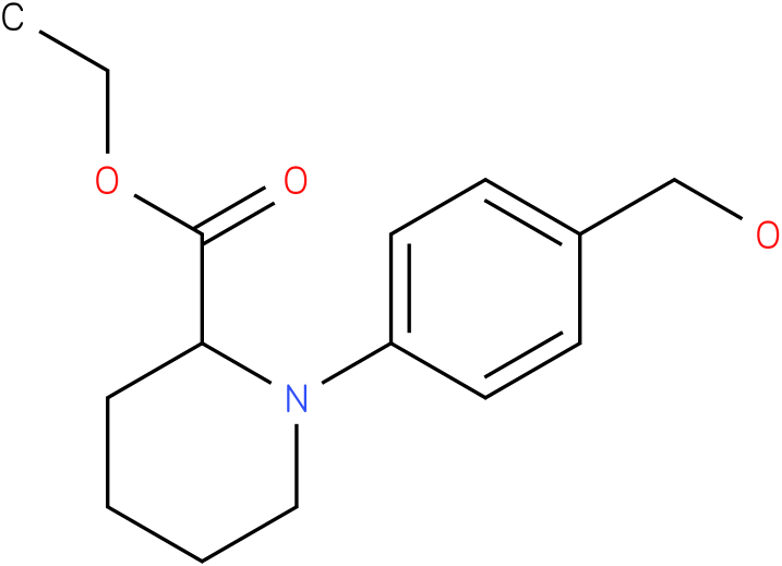 1-(4-hydroxymethyl-phenyl)-piperidine-2-carboxylic acid ethyl ester