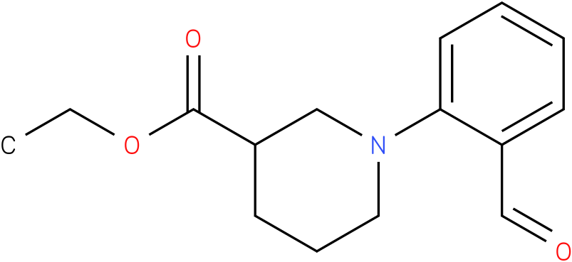 1-(2-formyl-phenyl)-piperidine-3-carboxylic acid ethyl ester