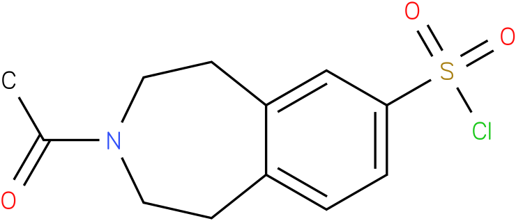 3-acetyl-2,3,4,5-tetrahydro-1H-benzo[D]azepine-7-sulfonyl chloride