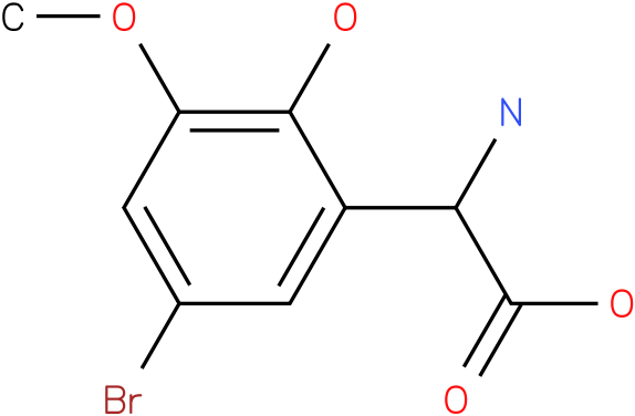 Amino-(5-bromo-2-hydroxy-3-methoxy-phenyl)-acetic acid