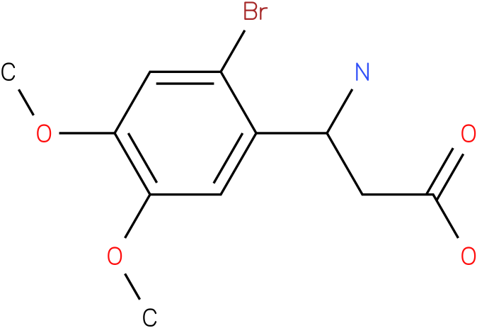 3-Amino-3-(2-bromo-4,5-dimethoxy-phenyl)-propionic acid
