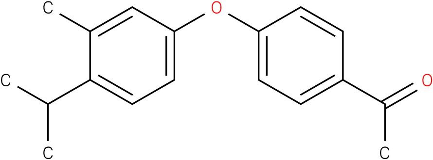 1-[4-(3-methyl-4-isopropyl-phenoxy)-phenyl]-ethanone