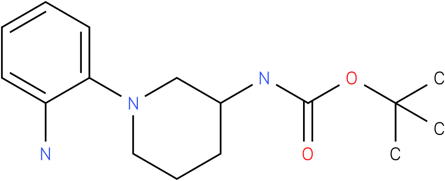 1-(2-amino-phenyl)-piperidin-3-carbamic acid tert-buytl ester
