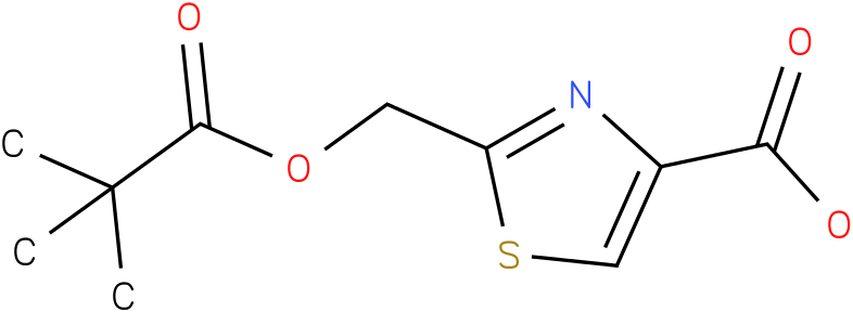 2-(2,2-dimethyl-propionyloxymethyl)-thiazole-4-carboxylic acid
