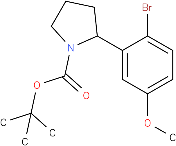 tert-butyl 2-(2-bromo-5-methoxyphenyl)pyrrolidine-1-carboxylate