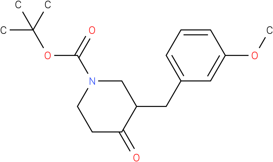 tert-butyl 3-(3-methoxybenzyl)-4-oxopiperidine-1-carboxylate