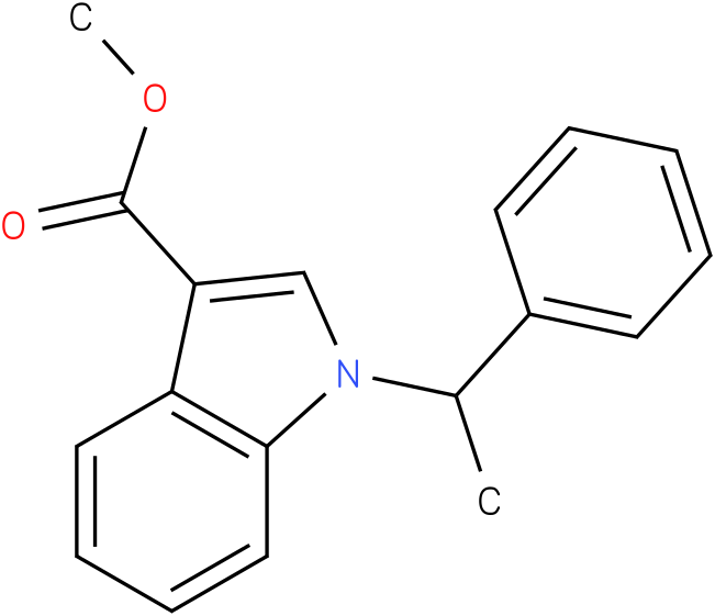 methyl 1-(1-phenylethyl)-1H-indole-3-carboxylate