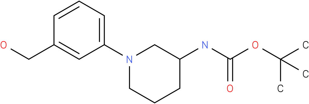 1-(3-hydroxymethyl-phenyl)-piperidin-3-carbamic acid tert-butyl ester